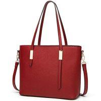 women's red purse
